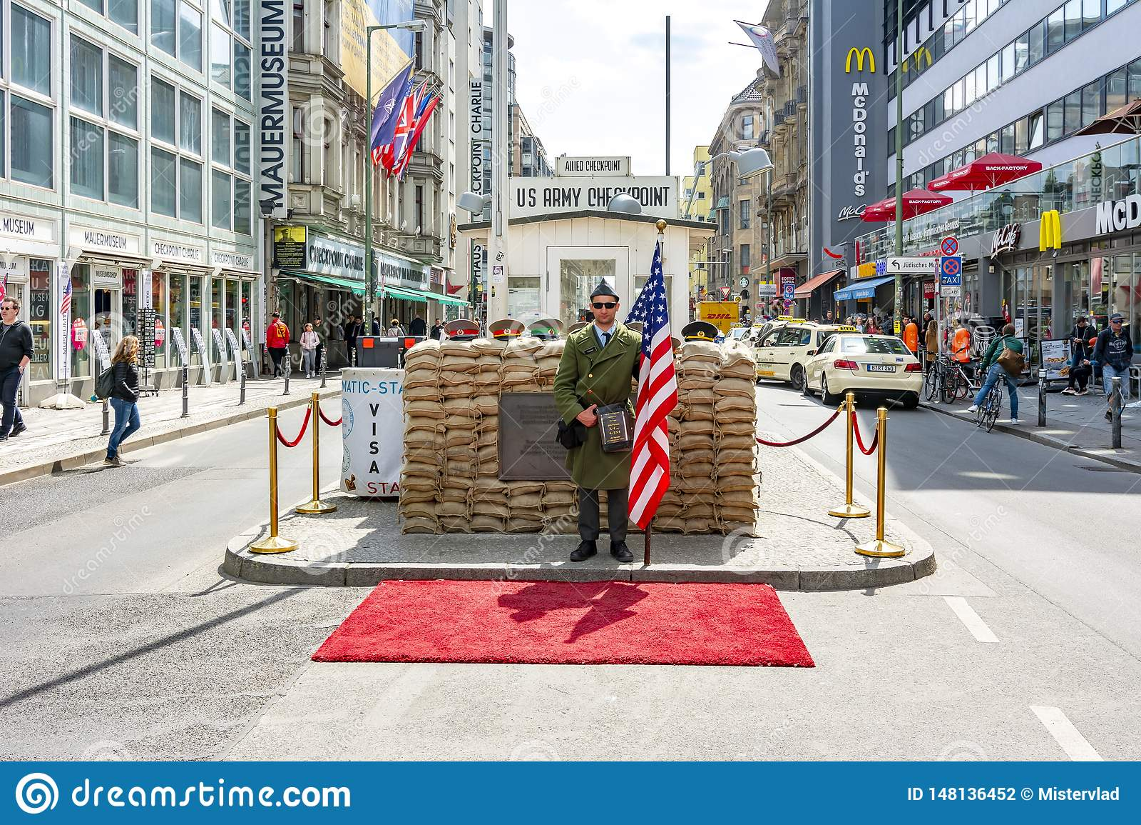 Checkpoint Charlie zabytek w Berlin, Niemcy