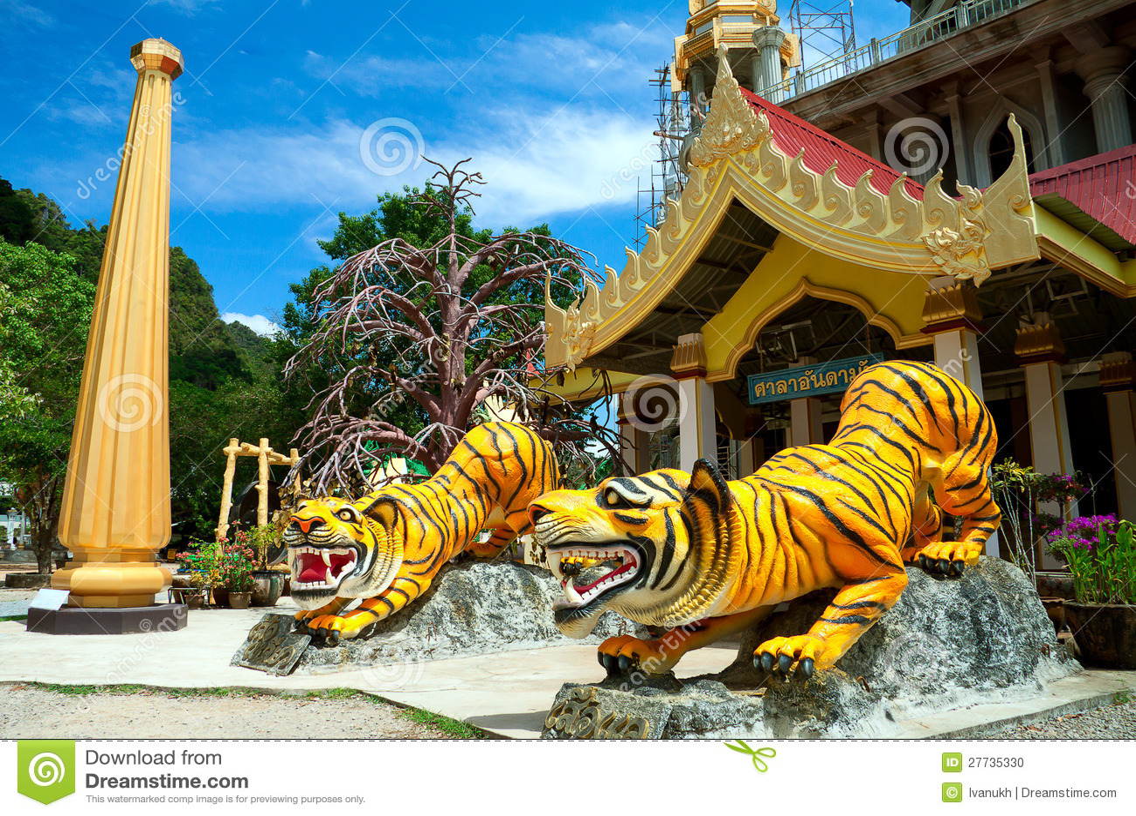 Chedi am Tiger-Höhle-Tempel