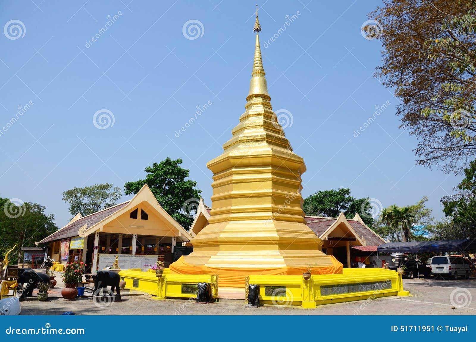 Chedi Of Wat Phra That Doi Chom Thong In Chiang Rai ...
