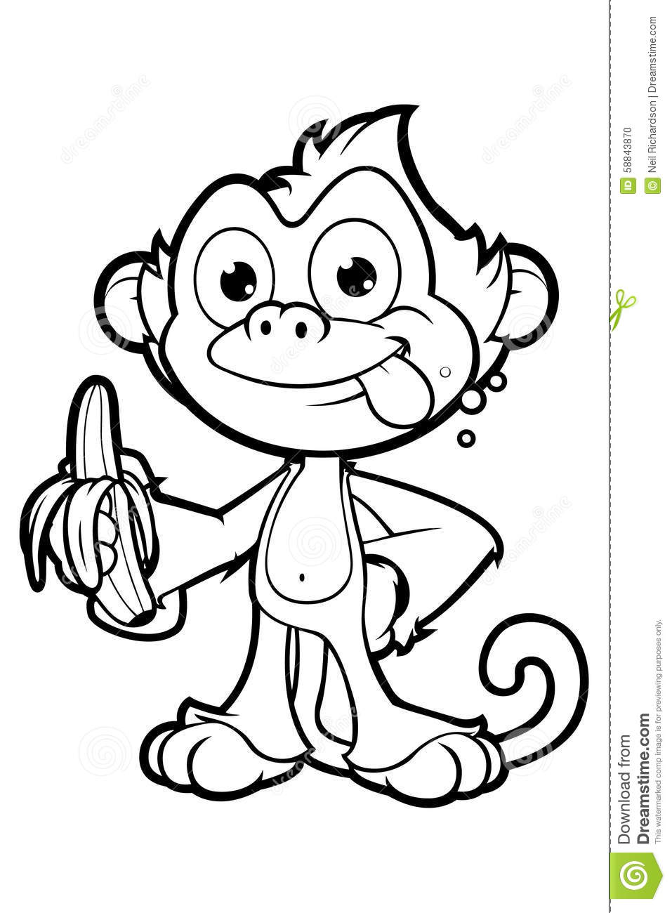 Cartoon Characters Black And White : Black and white cartoon monkey pixshark images