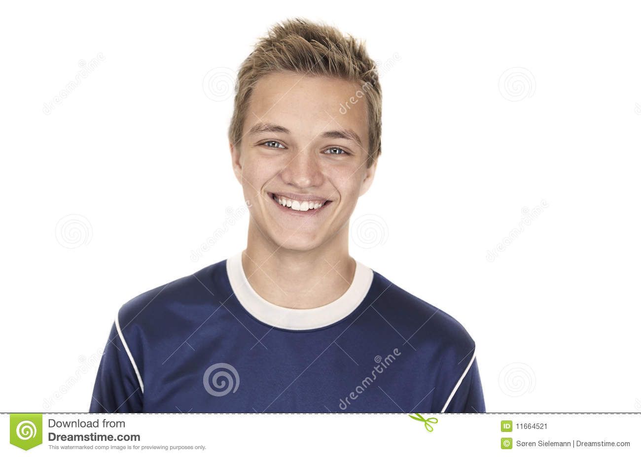 Cheerful 16 Year Old Boy Stock Image Image Of Background