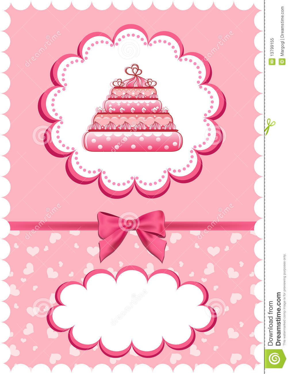 Download Cheerful Babies Card With Cake. Stock Vector - Illustration of happiness, blank: 13799155