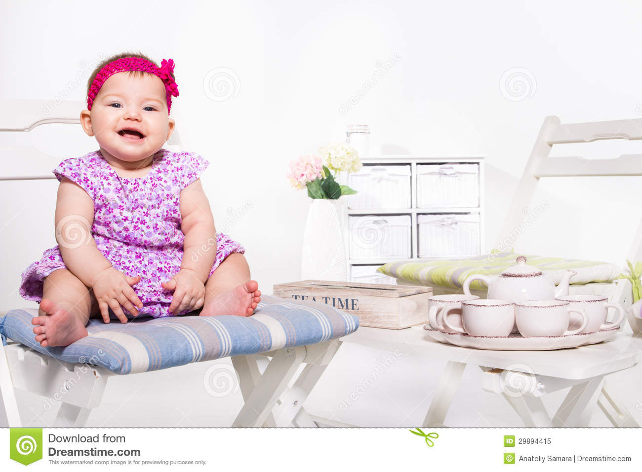 Cheerful baby royalty free stock photo image 29894415 for Toddler sitting chair