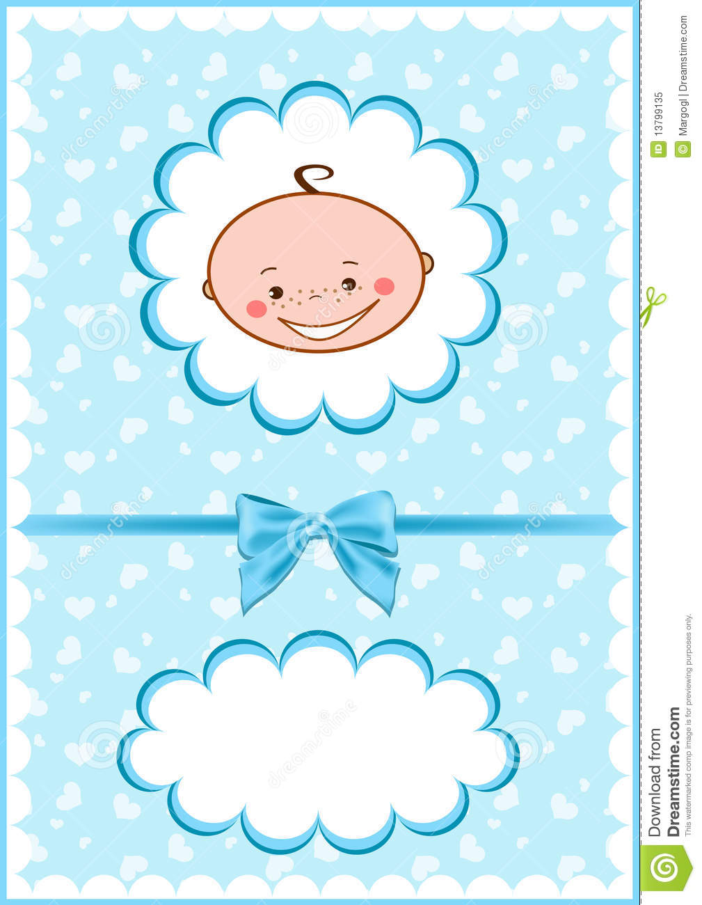 Download Cheerful blue babies card. stock vector. Illustration of decoration - 13799135