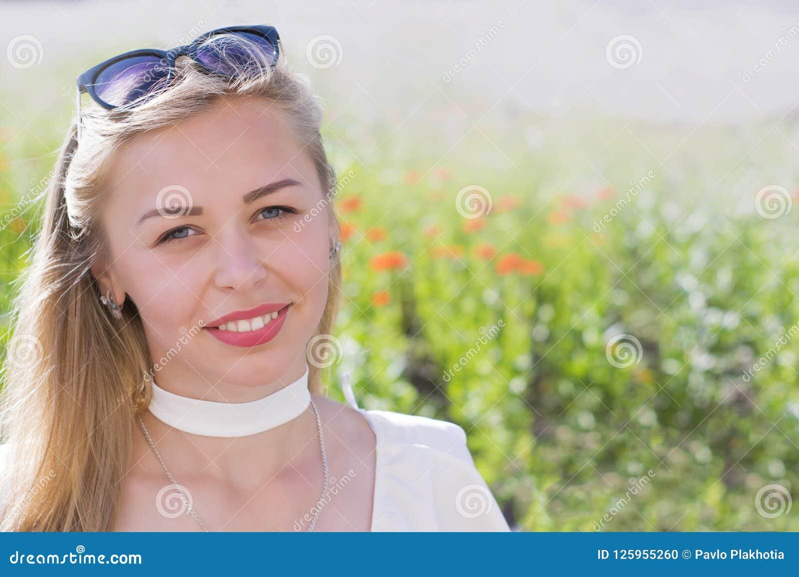 Cheerful caucasian model