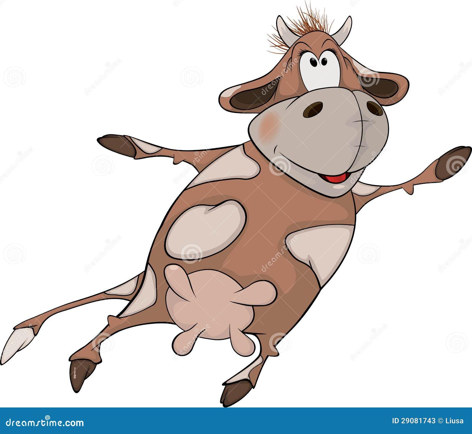 cheerful cow cartoon stock photos image 29081743