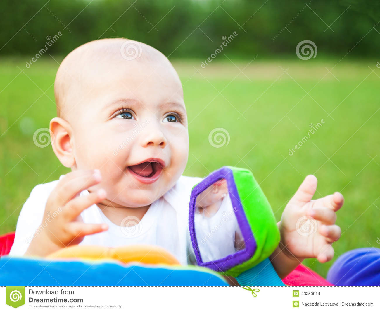 Cheerful cute kid on the nature stock images image 33350014 for Cheerful nature