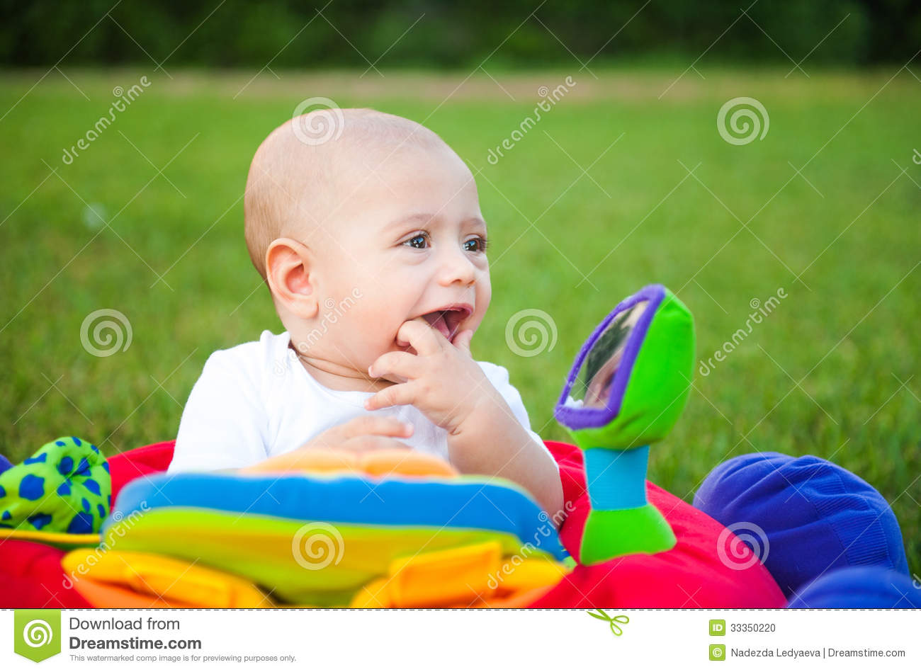 Cheerful cute kid on the nature stock photo image 33350220 for Cheerful nature