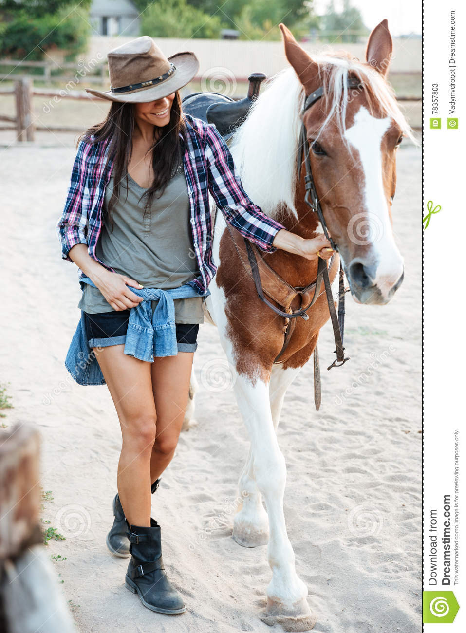 Cowgirl And Her Horse Royalty-Free Stock Photo ...