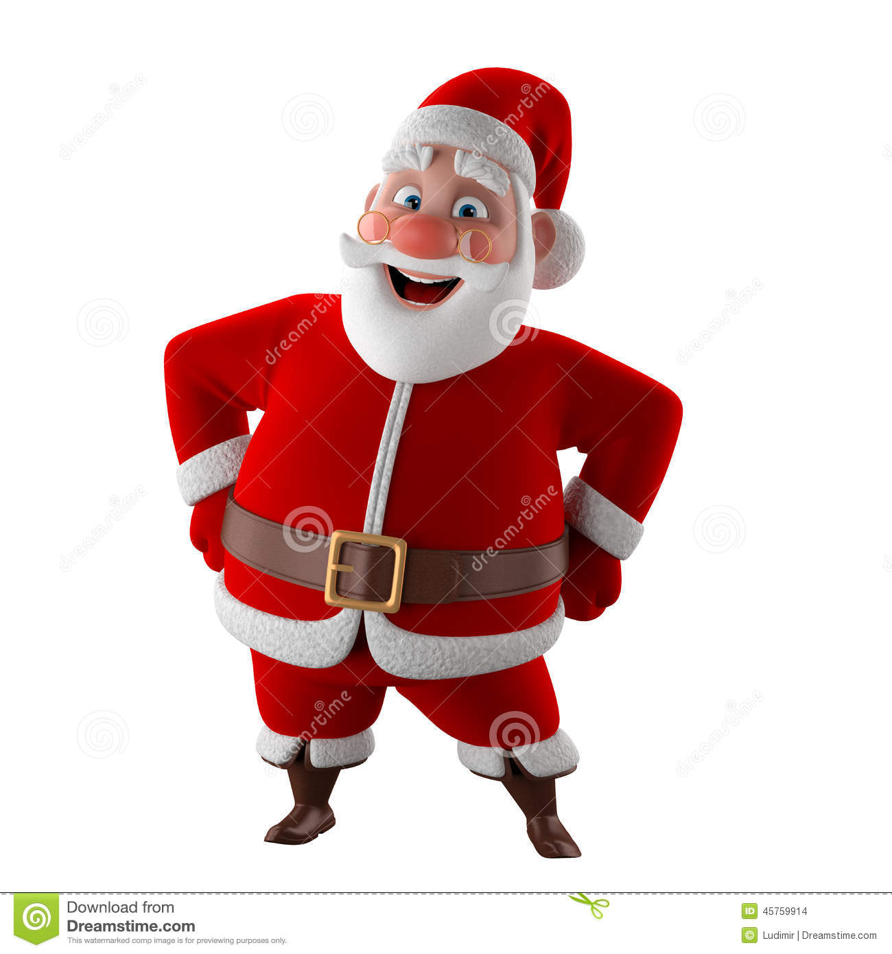 Image De Noel 3d.Cheerful 3d Model Of Santa Claus Happy Christmas Icon