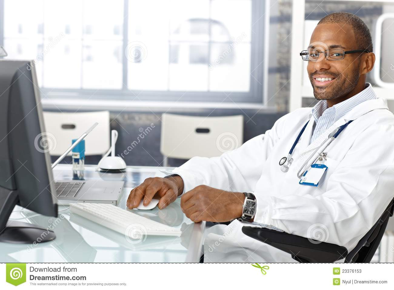 Cheerful general practitioner