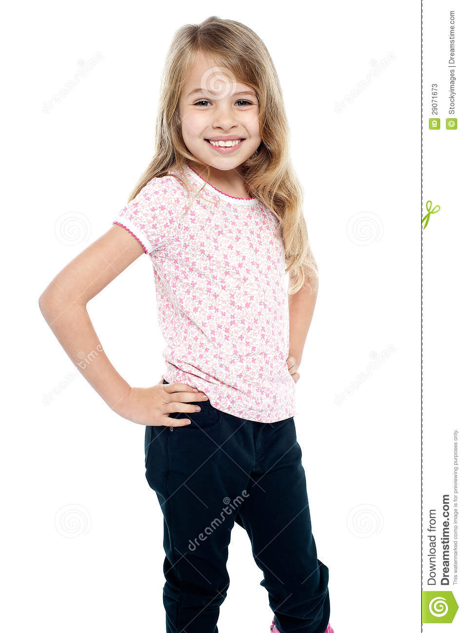 Cheerful Girl Child With Hands On Waist Stock Photos - Image: 29071673