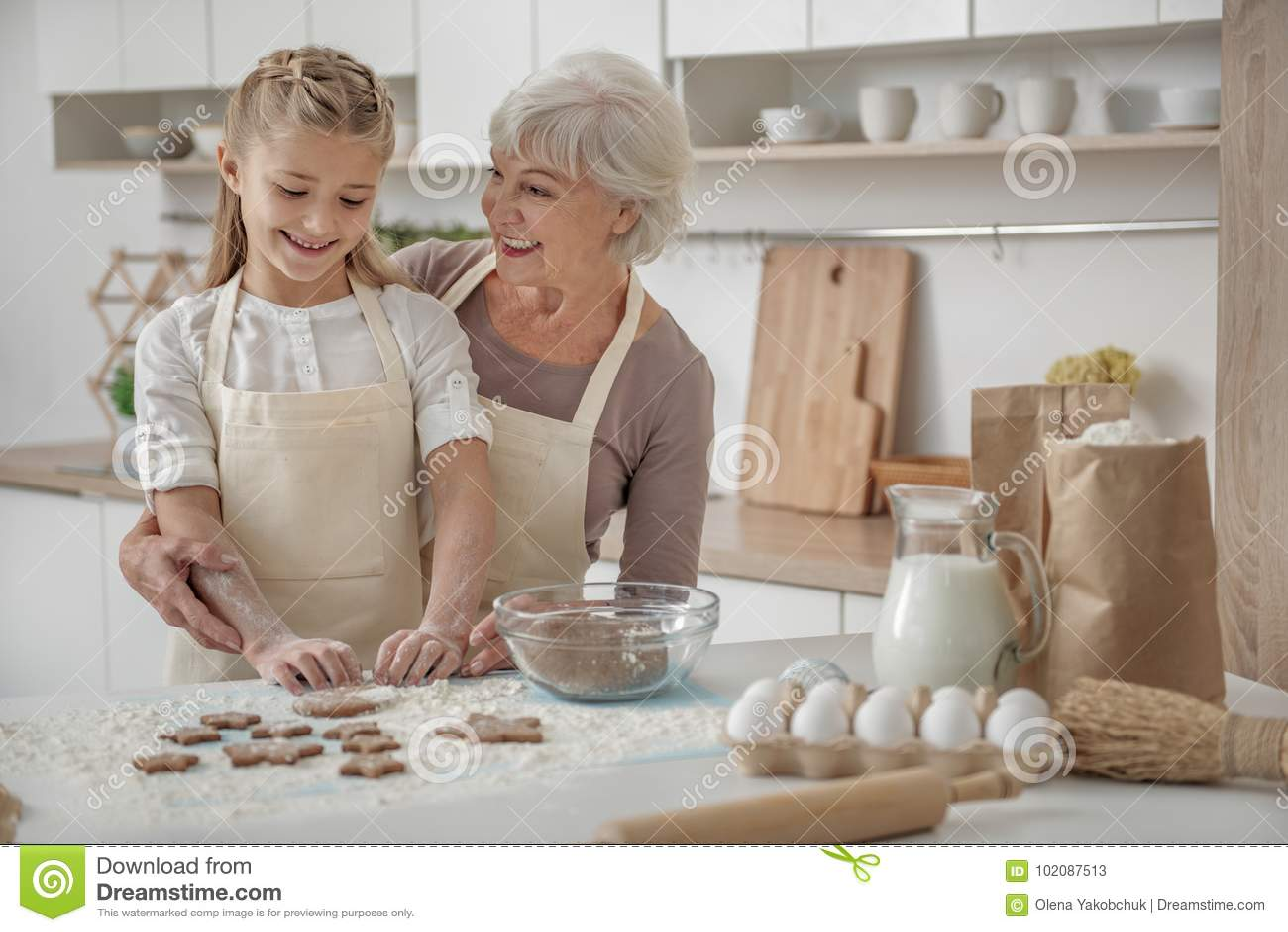 Photopositive. How children make cakes