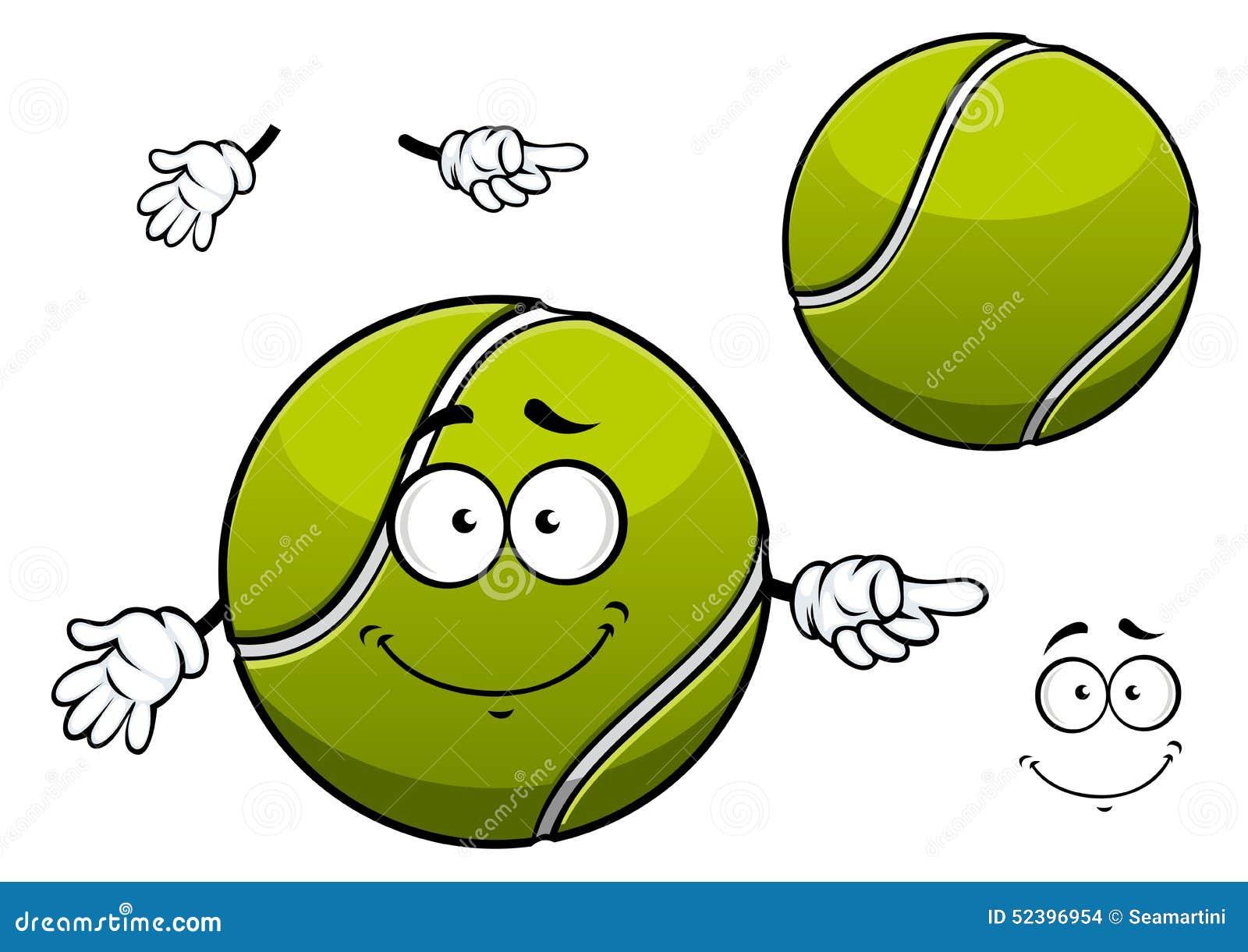 Tennis ball mascot stock photos tennis ball mascot stock photography - Cheerful Green Tennis Ball Cartoon Character Stock Images