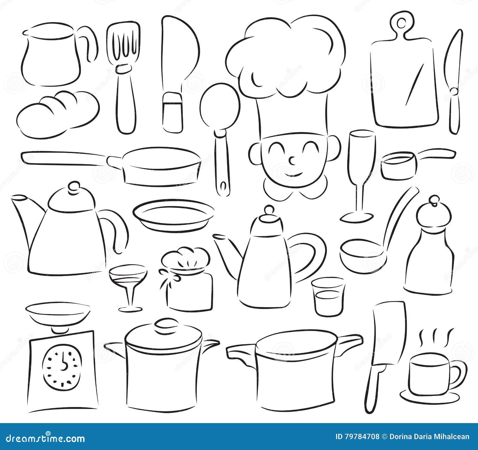 Kitchen tools stock vector  Illustration of unique