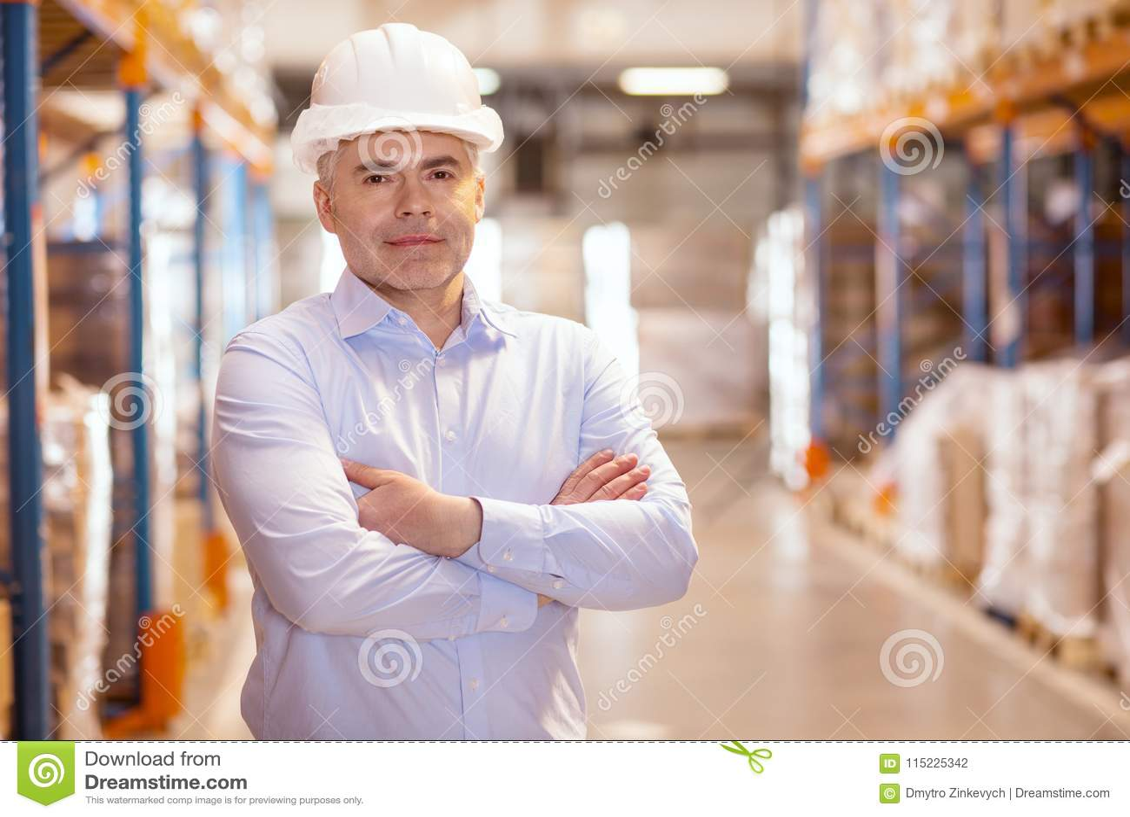 Cheerful Logistics Manager Enjoying His Job Stock Photo - Image of