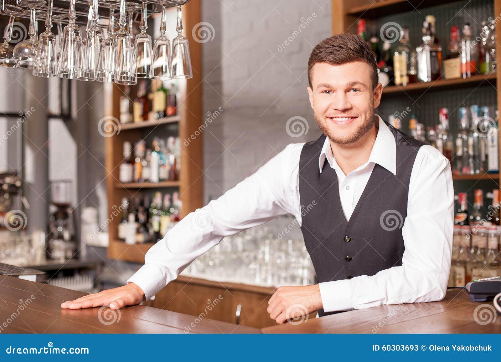 working in a pub