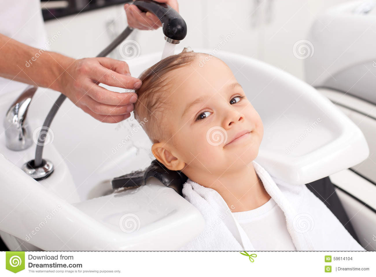 Verry Young Boys Washing Hairs | washing biracial hair my