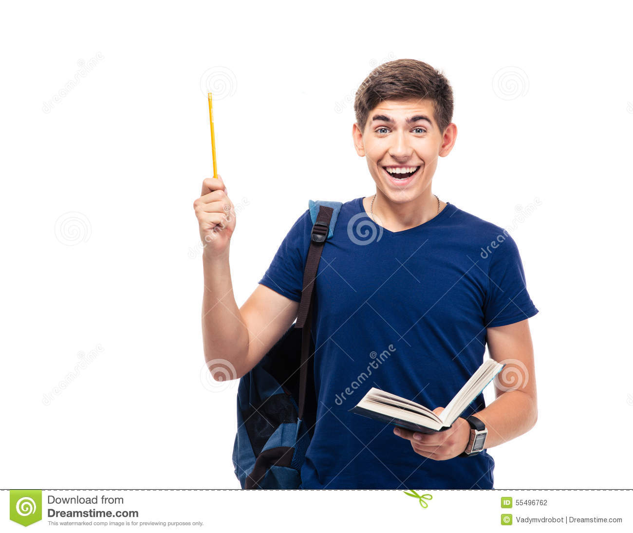 Student Holding Muticolored Files Stock Image ...
