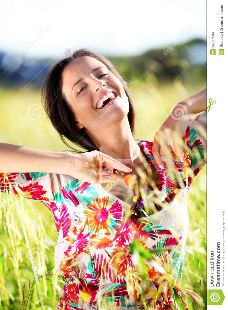 Cheerful natural woman royalty free stock images image for Cheerful nature