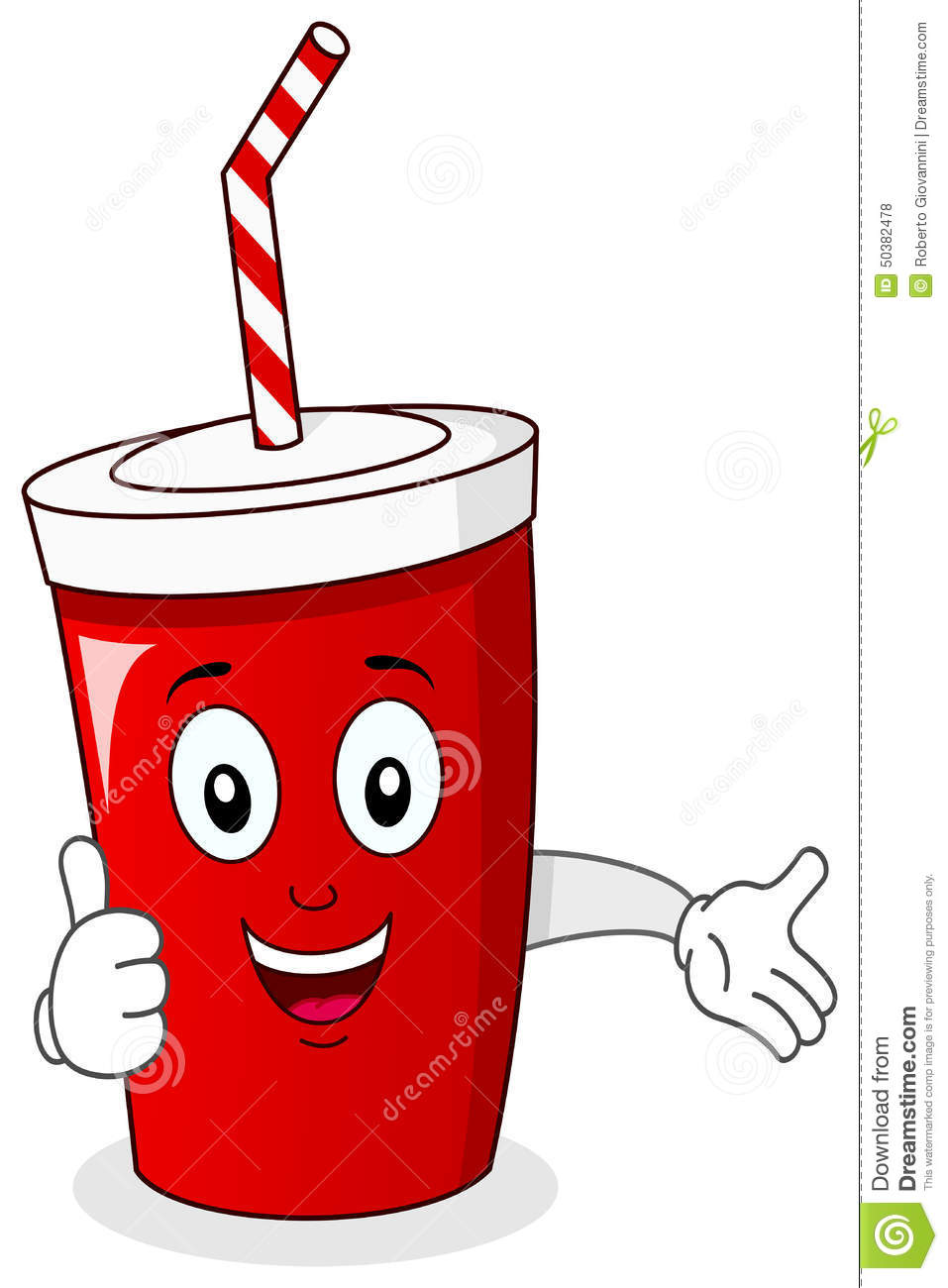 Cheerful Paper Soda Drink Character Stock Vector - Image: 50382478