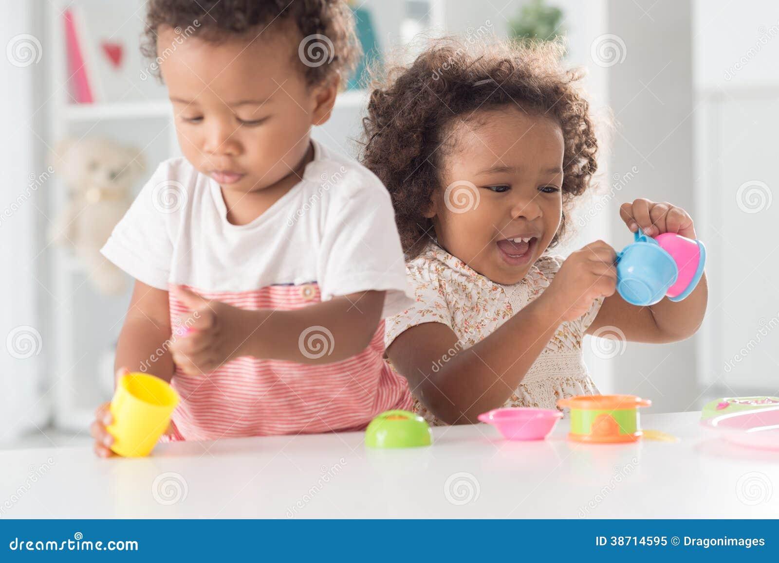 Cheerful playing