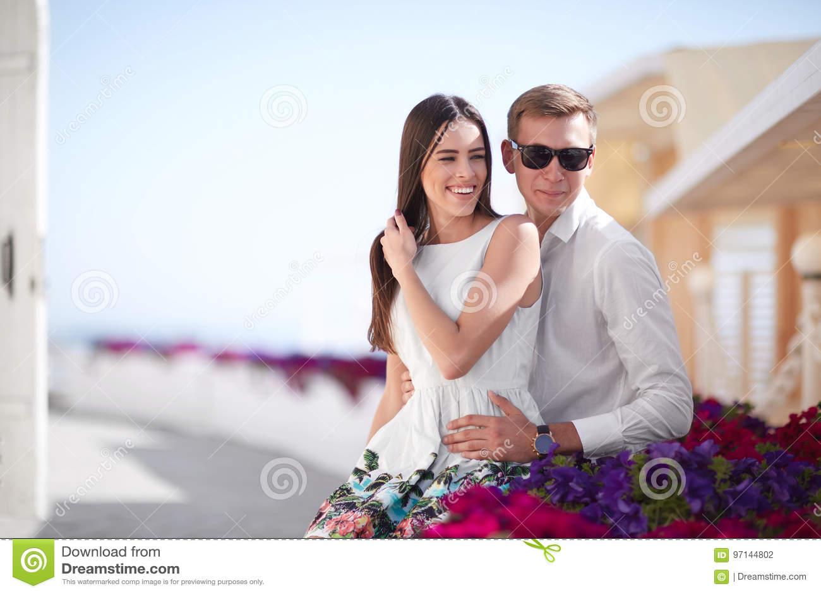 Males having summer romance
