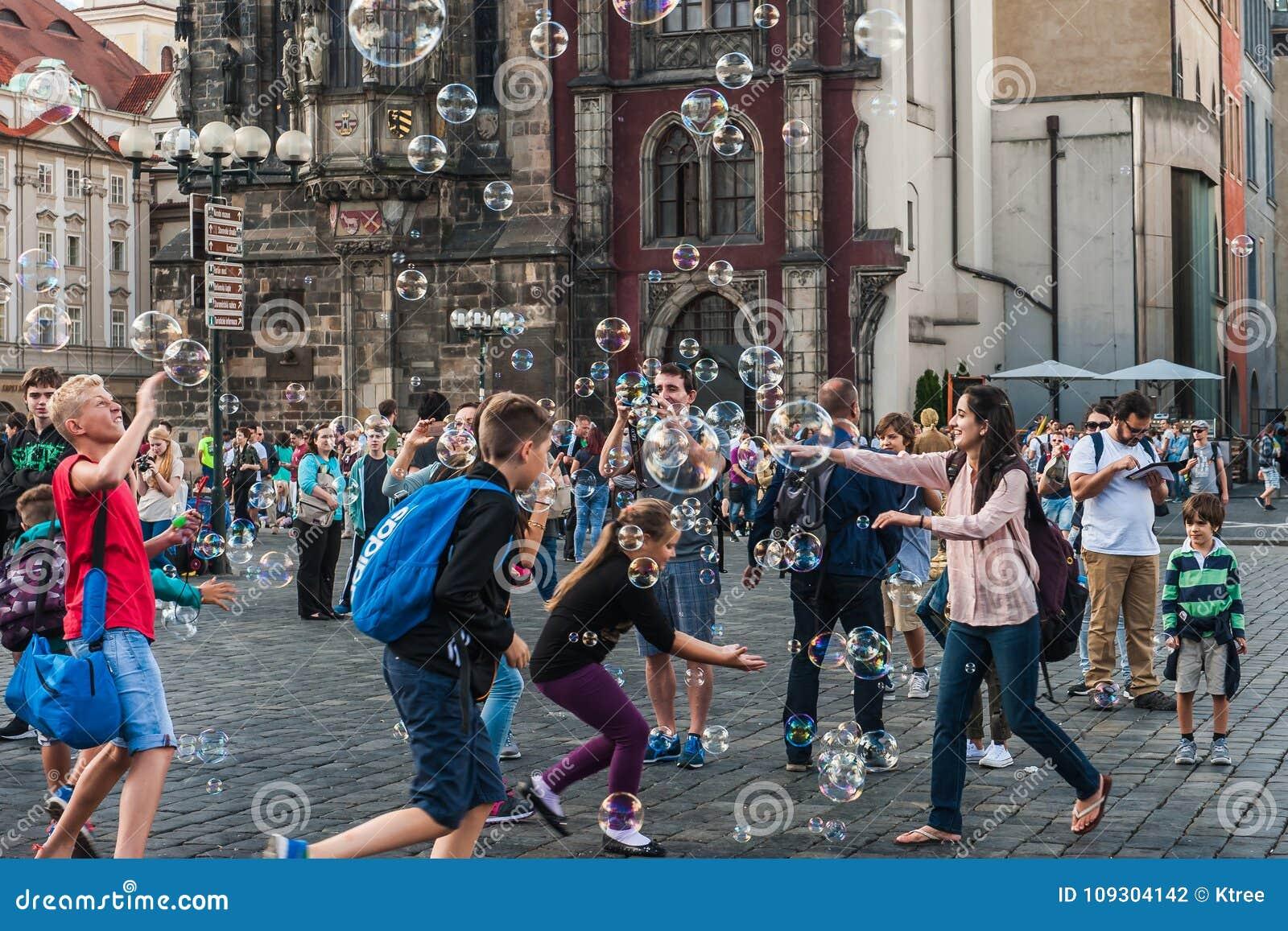 Cheerful soap bubbles