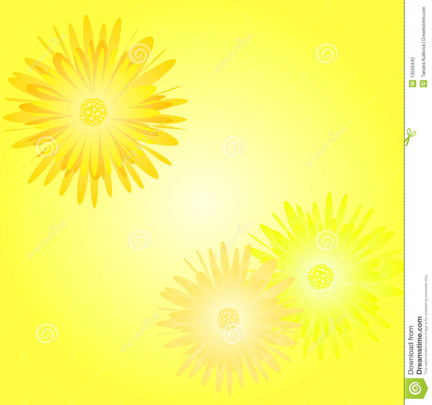 Cheerful yellow background with daisies stock photo for Cheerful nature