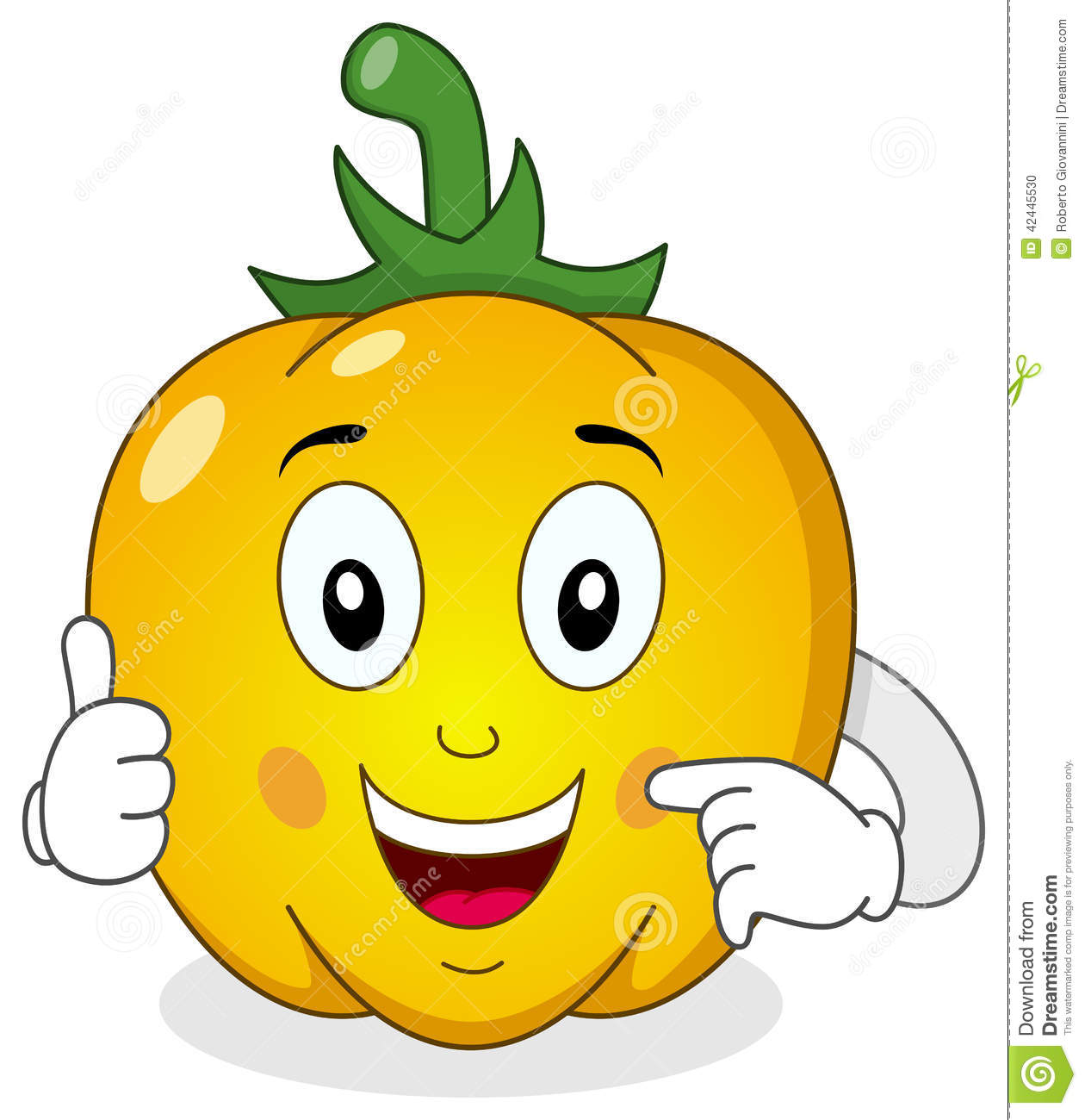 Cartoon Characters Yellow : Cheerful yellow pepper cartoon character stock vector
