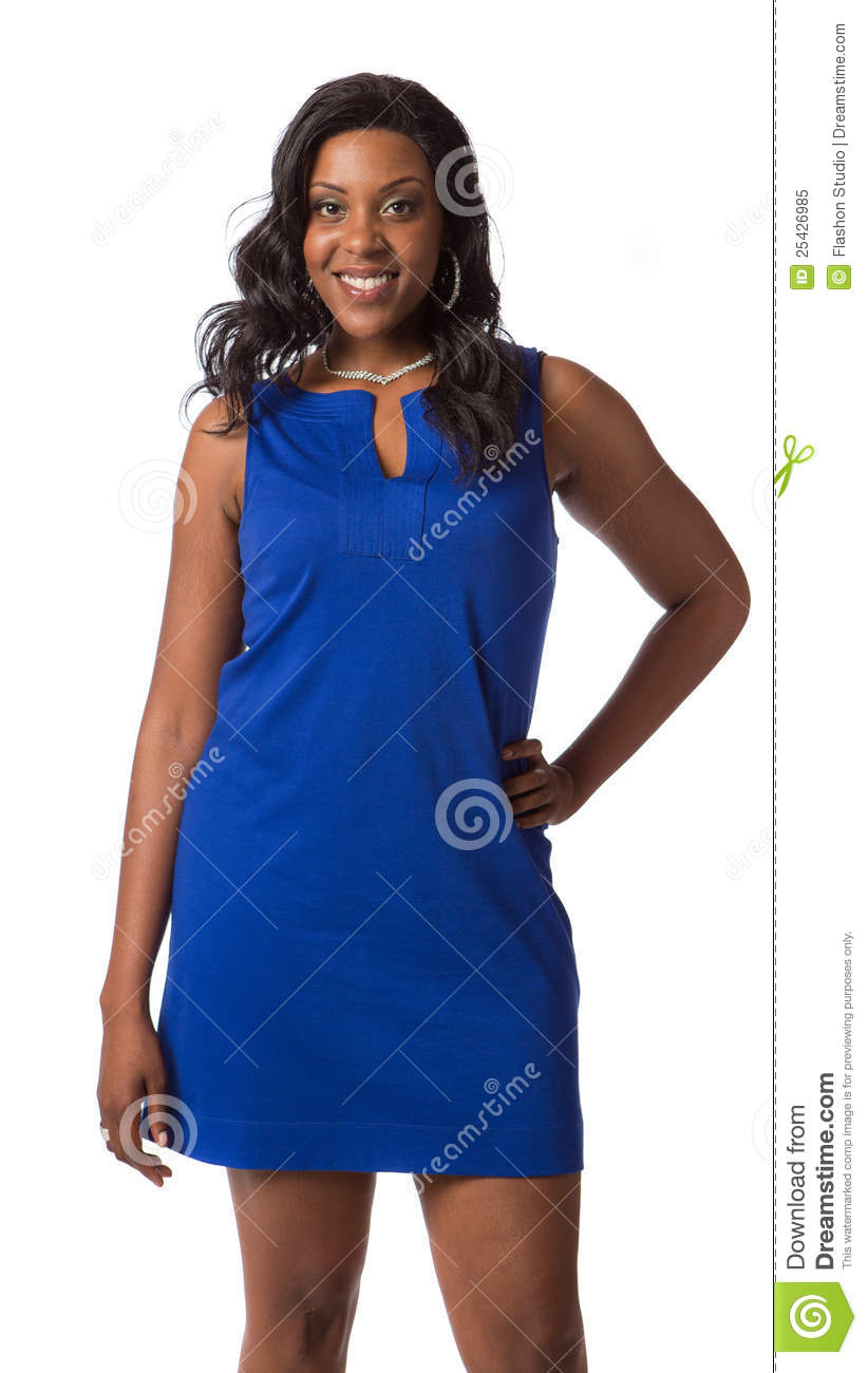 Cheerful Young Black Woman Portrait Standing Stock Image -3415