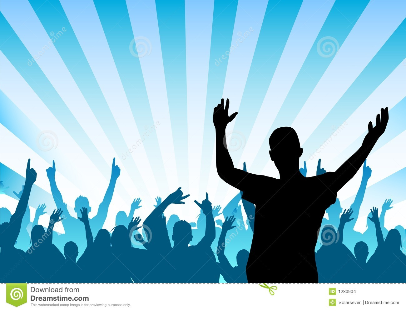 Cheering Crowd Stock Images - Image: 1280904