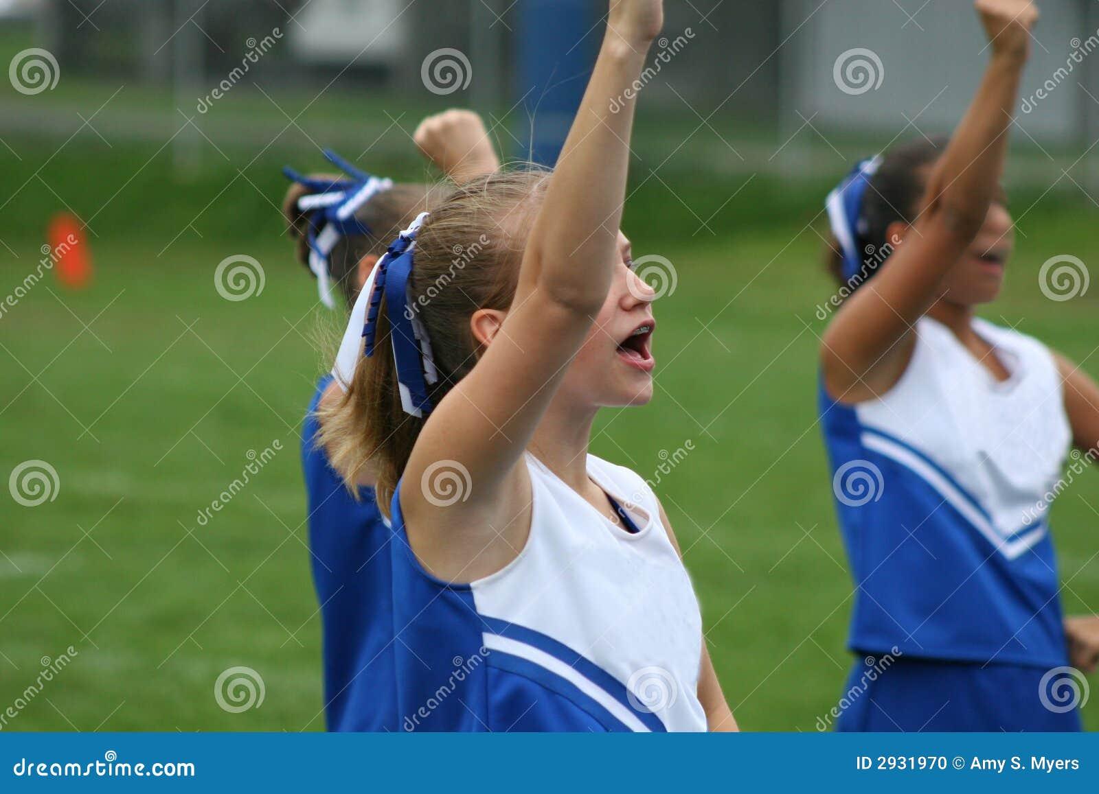 Cheering do líder do elogio