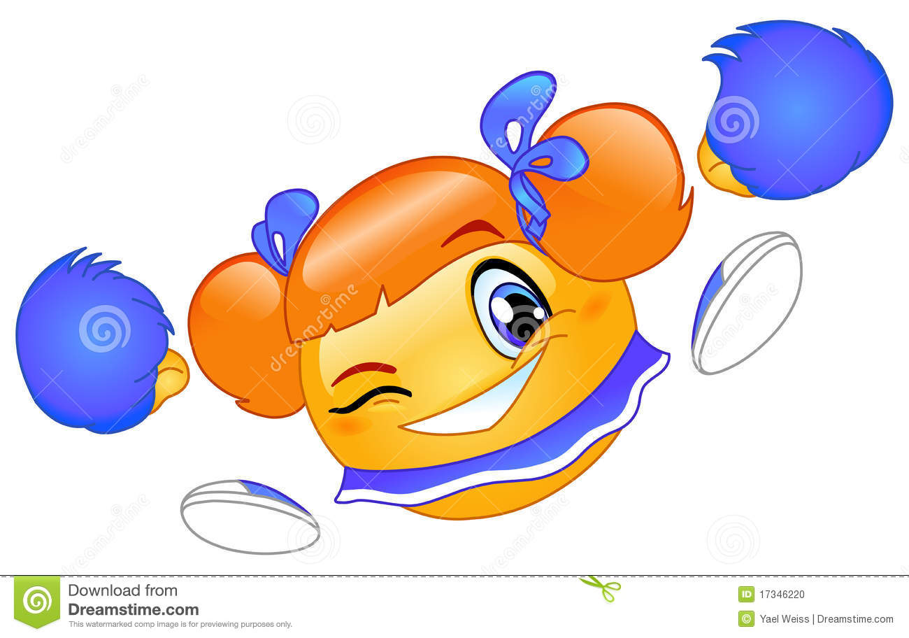 Cheerleader Emoticon Stock Photo - Image: 17346220