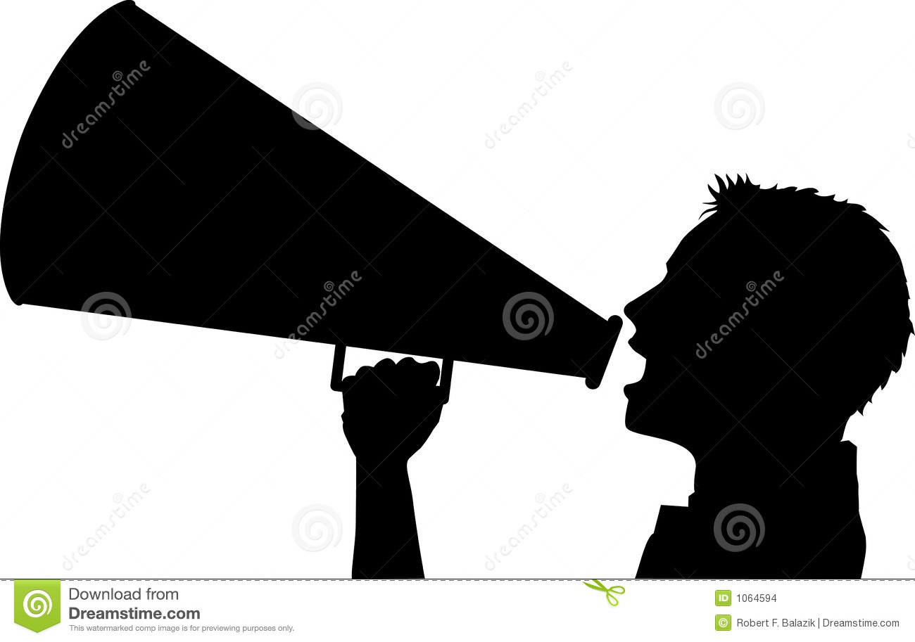 Free Cheer Megaphone Silhouette, Download Free Clip Art, Free Clip Art on  Clipart Library