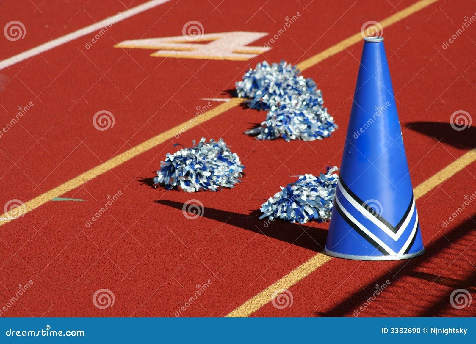 cheerleader megaphone stock photo  image of school  excitement