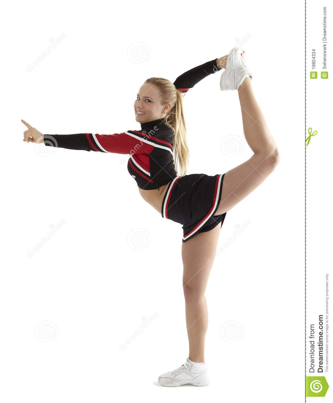 cheerleader pose stock photo image of smile  head  flexible 19804334 free clipart of cheerleaders with megaphones free clipart of cheerleaders