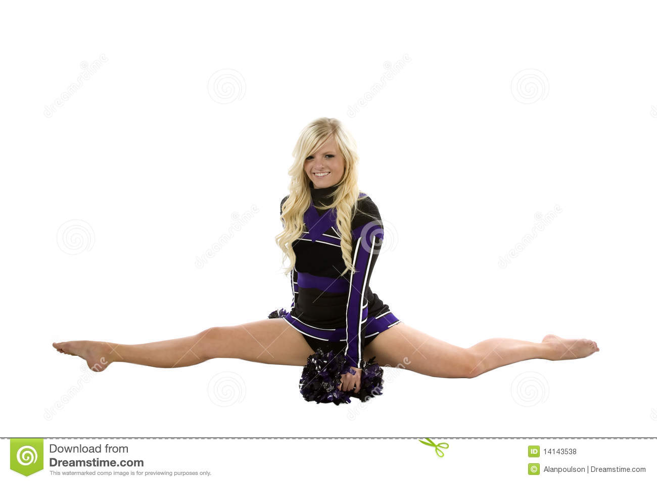 doing girl cheerleader splits
