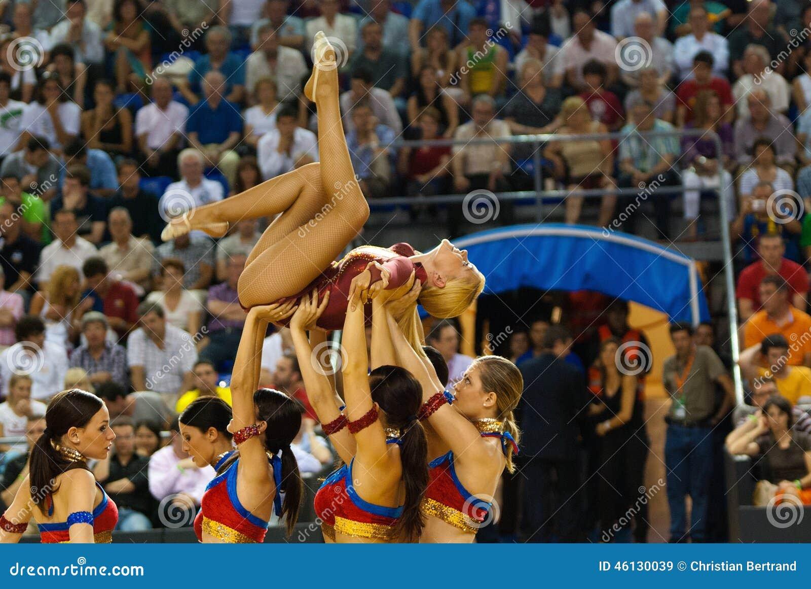 Cheerleaders at palau blaugrana editorial stock image for Puerta 0 palau blaugrana
