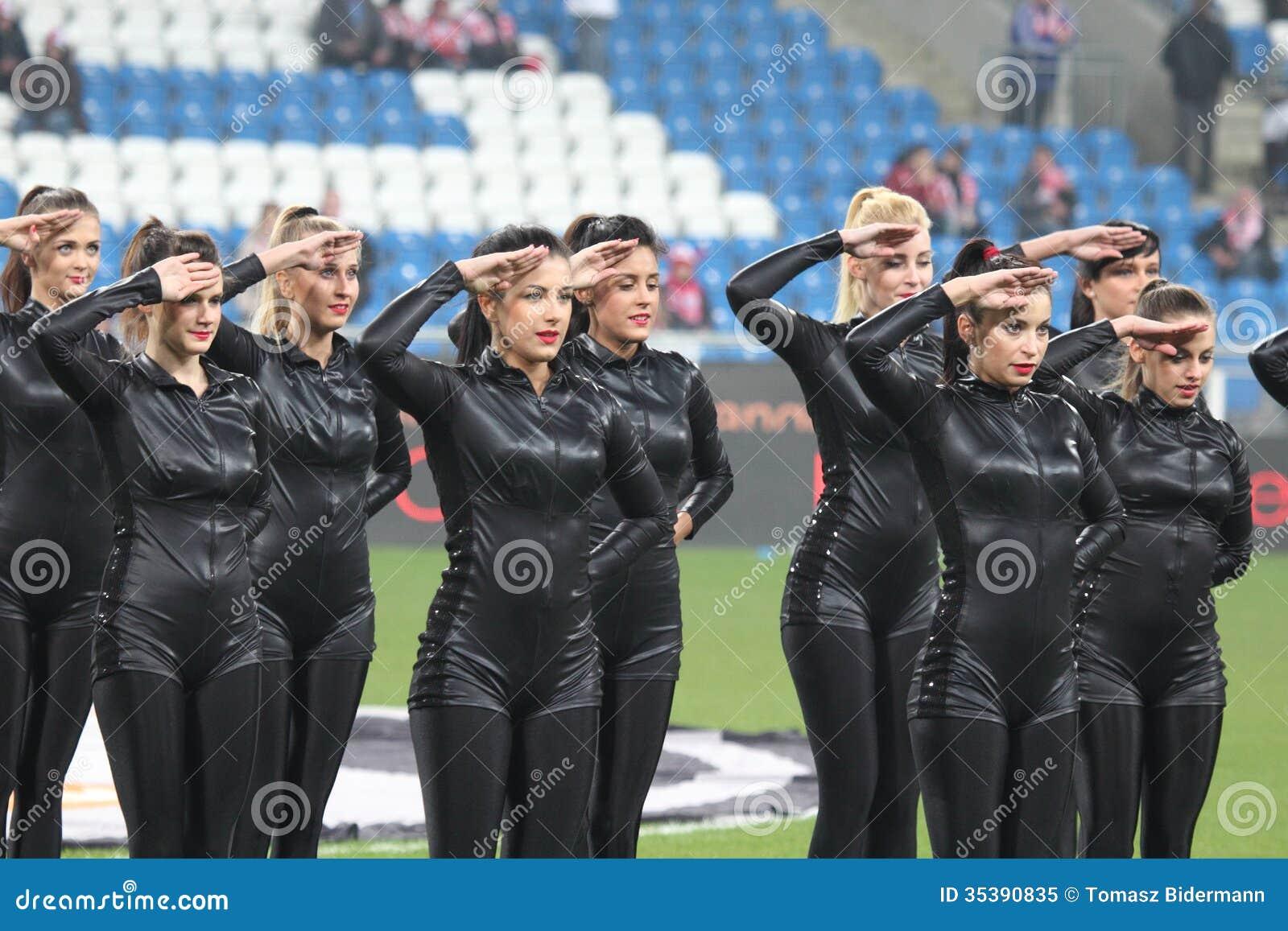 cheerleaders editorial image  image of girl  polish  cheerleaders