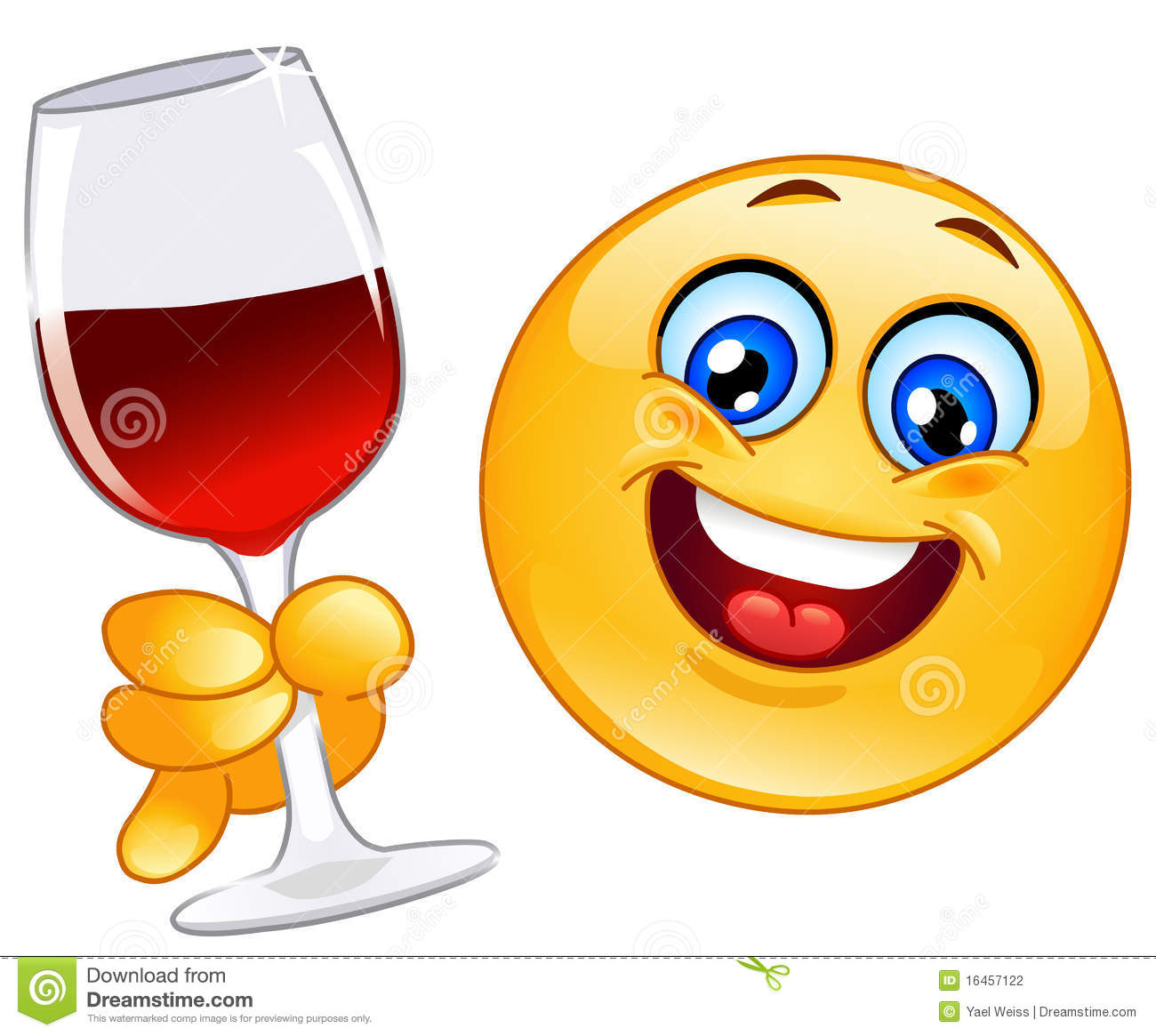 Cheers Emoticon Stock Photography - Image: 16457122
