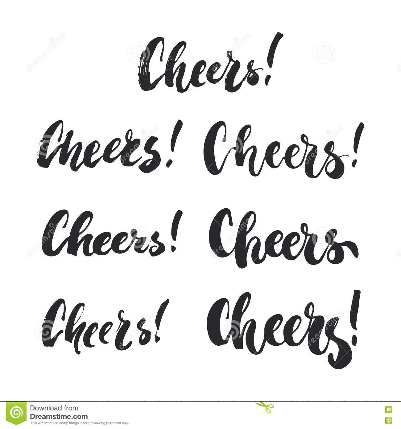Cheers - Lettering Christmas And New Year Holiday Calligraphy ...