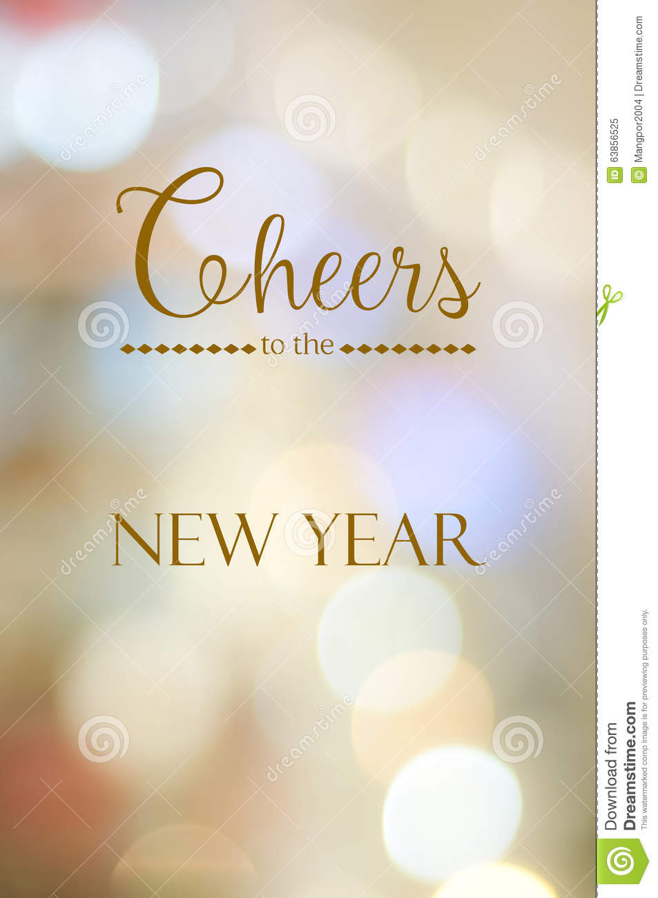Cheers To The New Year On Abstract Blur Bokeh Background Stock Photo ...