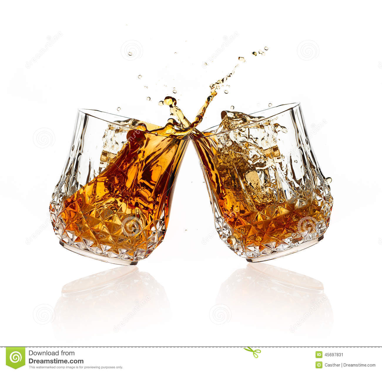 Bourbon Glass White Background