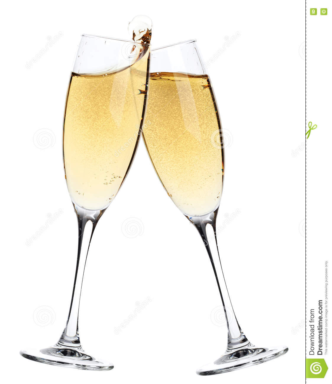 cheers two champagne glasses stock image image of celebration