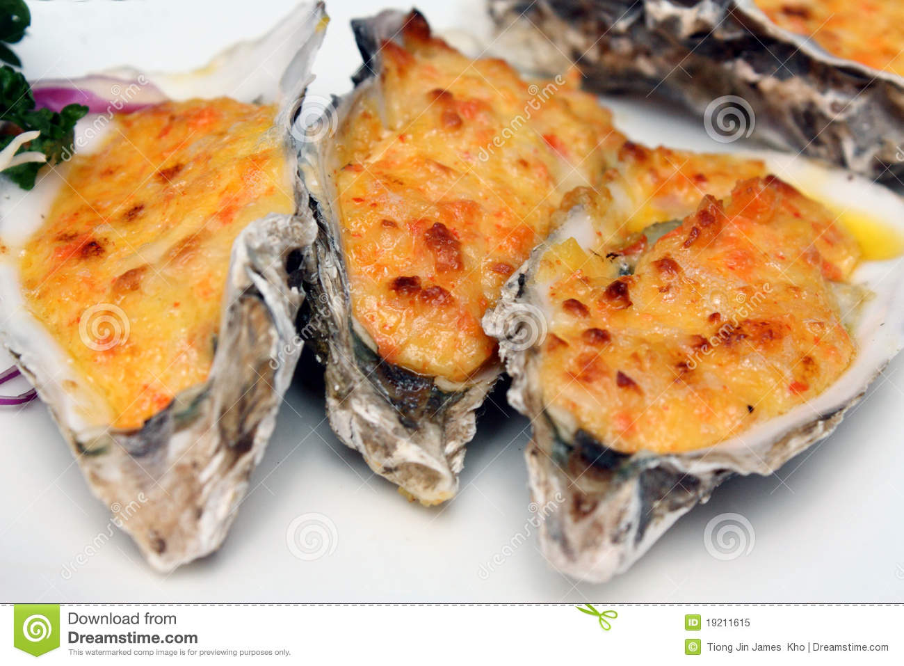 Cheese-Baked Oysters Royalty Free Stock Photo - Image: 19211615