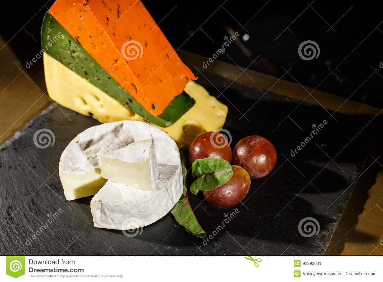 Cheese and black olives