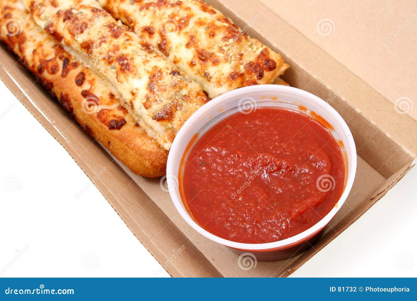 Cheese Bread And Marinara Sauce Stock Photo Image Of