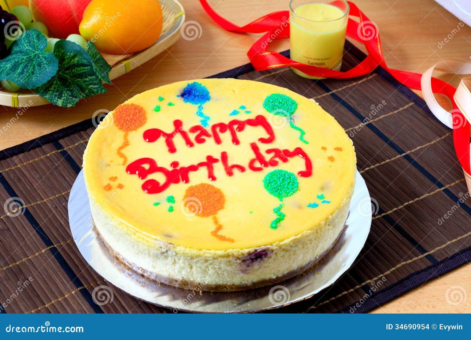 Cheese cake as birthday cake