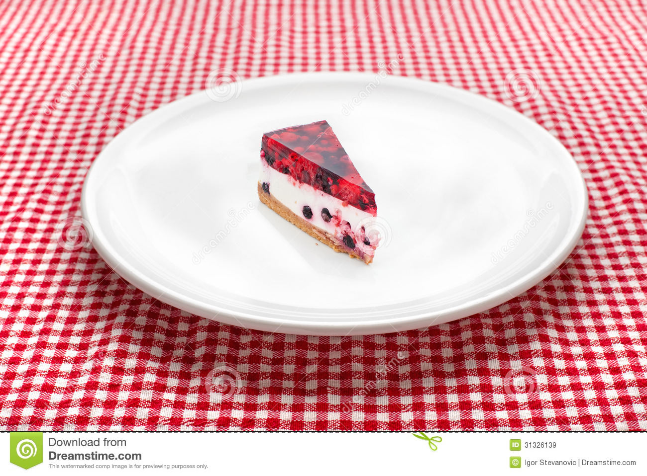 cheese cake on white plate royalty free stock images